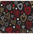 Seamless love red and gold heart background vector image vector image