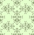 Seamless pattern vintage style in green color vector image
