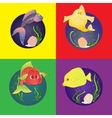 Set marine fish vector image