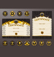 set of elegant templates of certificate diploma vector image