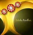 shiny rakhi background vector image vector image