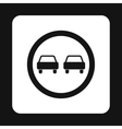 Sign overtaking icon simple style vector image vector image
