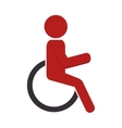 silhouette person in wheelchair vector image vector image