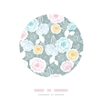Silver and colors florals circle decor background vector image vector image