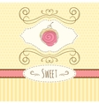 Swiss roll hand drawn card vector image vector image