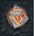 the pizza mexican slice with background vector image vector image