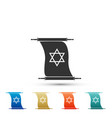 torah scroll icon isolated star of david symbol vector image vector image