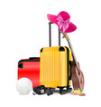 travel equipment vector image vector image