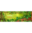 tropical forest horizontal poster vector image vector image