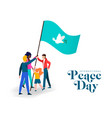 world peace day diverse friend group teamwork vector image vector image