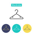 hanger icon isolated on white background vector image
