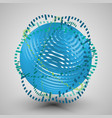 blue 3d sphere with rings vector image