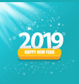 2019 happy new year creative design background or vector image vector image