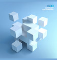 3d cubes background vector image vector image