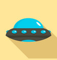 alien spaceship icon flat style vector image vector image