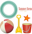 beach toys vector image