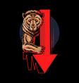 bearish bear in stock trading graphics vector image vector image