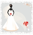Beautiful pregnant bride silhouette vector image vector image