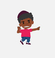 black boy in jeans jumps angry vector image
