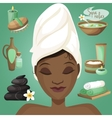 Black woman in spa vector image