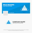 blue business logo template for tent camping camp vector image