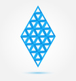 Blue symbol made of triangles - abstract rhombus vector image vector image