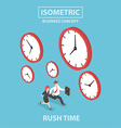 Businessman and businesswoman in rush hour vector image vector image
