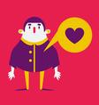 Cartoon Man in Love vector image