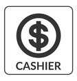 Cashier icon with dollar sign vector image