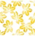Chestnut leaves seamless pattern vector image