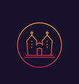 church icon in thin linear style vector image