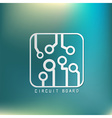 Circuit board sign icon Technology scheme symbol vector image