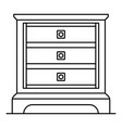 classic nightstand icon outline style vector image vector image