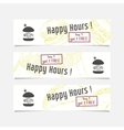 Collection of banners templates with sketched fast vector image vector image