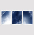 dark blue watercolor background with white vector image vector image