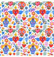 day dead mexican icons seamless pattern vector image vector image