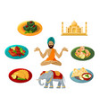 different objects traditional indian culture vector image