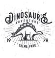 dinosaur adventure logo concept vector image
