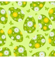 Easter green seamless pattern vector image vector image