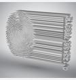 fingerprint becoming barcode vector image