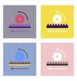 flat icon design collection during gear vector image vector image