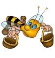 Flying Little Bee vector image vector image