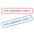 for deposit only textile stamps vector image vector image