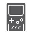 gameboy glyph icon leisure and play game console vector image vector image