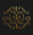 golden calligraphic flourishes decorative ornament vector image vector image