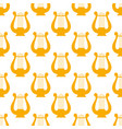 golden lyre seamless pattern vector image