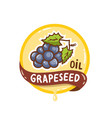 grapeseed oil logo natural product emblem vector image vector image