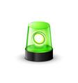 green flashing police beacon alarm police light vector image vector image