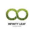 green infinity eco logo vector image
