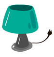 green lamp on white background vector image vector image
